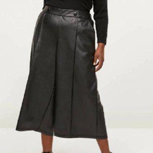 New Lane Bryant Faux Leather Wide Leg Pants
